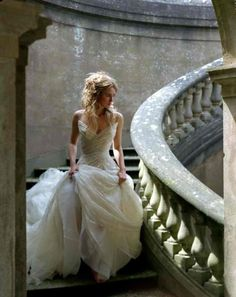 There's something so special about brides and staircases #wedding #photography