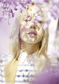 Photographer Paul Rousteau - fashion editorial #flowers #portrait