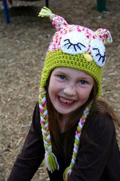 Sweet Dreams Owl Crochet Hat Pattern by AshTreeCrochet