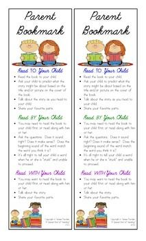 "Are your parents asking ""how can I help my child with reading""?  This is the perfect tool that will do just that and more.   I created this ""Parent Bookmark"" as a resource for my parents when reading with their child at home.  Typically I have shared this resource at Open House Night or Parent/ Teacher Conferences."
