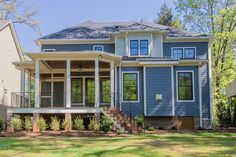 Craftsman Style House Plan - 4 Beds 4 Baths 2995 Sq/Ft Plan #119-370 Exterior - Rear Elevation - Houseplans.com #dwell #design #modern #home #residence #architecture