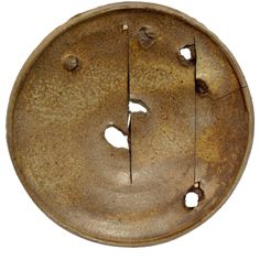 """Peter Voulkos - Melted Ash Gas-fired Plate. 