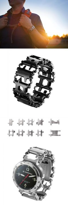 Leatherman - Tread EDC Multi Tool Bracelet, The Travel Friendly Wearable Multi-Tool, Stainless Steel (FFP) - Everyday Carry Gear