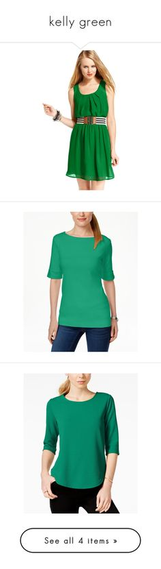 """""""kelly green"""" by alaurable on Polyvore featuring dresses, green, green sleeveless dress, no sleeve dress, bcx dress, sleeveless dress, green dress, tops, new pool green and karen scott"""