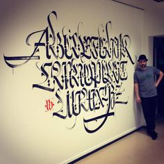 Luca Barcellona, the story. I'm an atheist, but writing is like a religion to me. Graffiti Lettering Fonts, Lettering Styles, Typography Letters, Brush Lettering, Calligraphy Types, Beautiful Calligraphy, Calligraphy Alphabet, Beautiful Handwriting, Letter Art