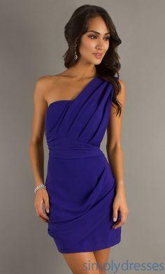 XO One Shoulder Party Dress, Short Purple Dress - Simply Dresses