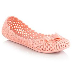 Light pink 'Jube' net patterned pumps - Flat shoes - Shoes & boots - Women -