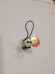 Polymer Clay Charm Panda. $5.00, via Etsy.