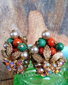 Vintage Autumnal Earrings