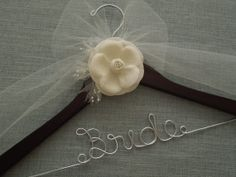 Wedding Dress Hanger, Bridal Hanger, Personalized Hanger, Shower Gift, Wedding Hanger