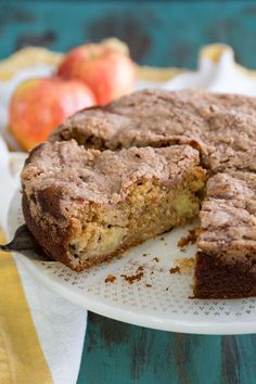 Cardamom Apple Coffee Cake made with yogurt fresh apple and topped with cinnamon and cardamom streusel Autumn coziness in a slice. The post Cardamom Apple Coffee Cake Wild Wild Whisk appeared first on Win Dessert. Apple Recipes, Sweet Recipes, Baking Recipes, Cake Recipes, Dessert Recipes, Swedish Recipes, Meal Recipes, Just Desserts, Delicious Desserts