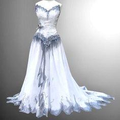 Robes de mariage gothique, Robes de mariage bleu and Mariage gothique ...