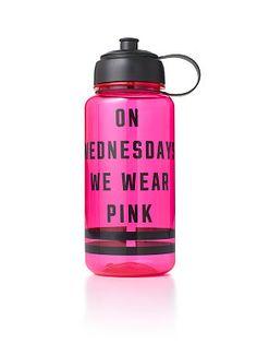 "VS PINK water bottle ""On Wednesdays we wear pink"""