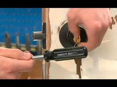 The only real from is this guys hair. Wow. But this could actually be helpful if locked out or when choosing a lock.