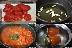 Salsa de tomate y albahaca en conserva. Pasos