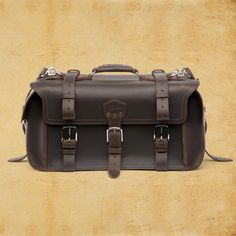 """Duffel Overnight Bag (dark coffee brown) by Saddleback Leather. """"They'll fight over it when your dead."""" $735"""