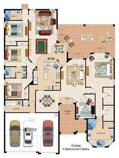 Container home floor plan Dream House Plans, House Floor Plans, My Dream Home, 4 Bedroom House Plans, House Blueprints, House Layouts, New Homes For Sale, Bungalows, House Goals