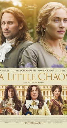 Directed by Alan Rickman.  With Kate Winslet, Alan Rickman, Stanley Tucci, Matthias Schoenaerts. A female landscape-gardener is awarded the esteemed assignment to construct the grand gardens at Versailles, a gilt-edged position which thrusts her to the very centre of the court of King Louis XIV.