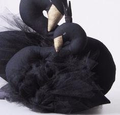 ILKA Swan Doll / Pillow - Jiselle Black Baby Swan