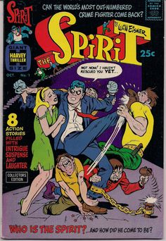Wickedly funny and sexy. 40's original comic noir character  The SPIRIT # 1 WILL EISNEROriginal  Harvey Comics 1966 reprint of 40's-50's stories...Full Color Fine-Near Mint. Lot's more WILL EISNER titles and graphic novels and SPIRIT comics and magazines available at QualityComicsAmerica