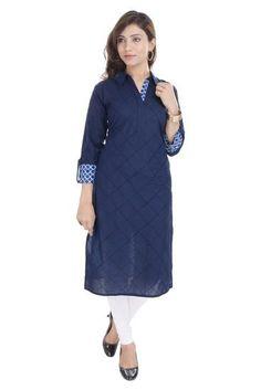 Exclusive Bollywood Cotton Blue Kurti For Women Black Kurti, Indian Designer Sarees, Ethnic Outfits, Indian Ethnic, Ethnic Fashion, Bollywood, Fashion Dresses, Dresses For Work, Elegant
