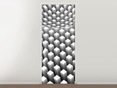 Tür #Tapete 3D-Rasterdesign