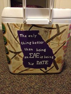 For K's SAE Formal Cooler except south carolina not gawd awful camo