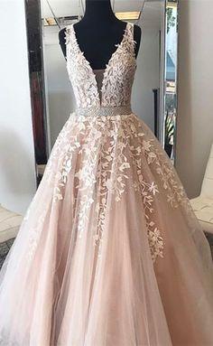 champagne long prom dress, 2017 prom dress, wedding dress, long wedding dress