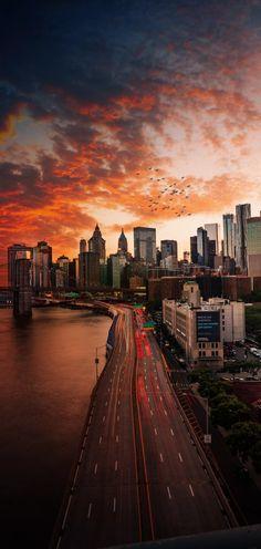 New York Wallpaper, City Wallpaper, Sunset Wallpaper, Bridge Wallpaper, Wallpaper Lockscreen, Mobile Wallpaper, City Photography, Landscape Photography, Nature Photography