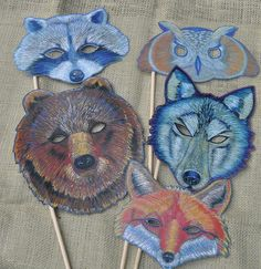 Halloween Mask Favors   21 Last-Minute Halloween Decorations You Can Make Yourself