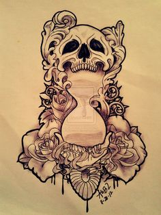 modified skull x hourglass by Aubzwork.deviantart.com on @deviantART