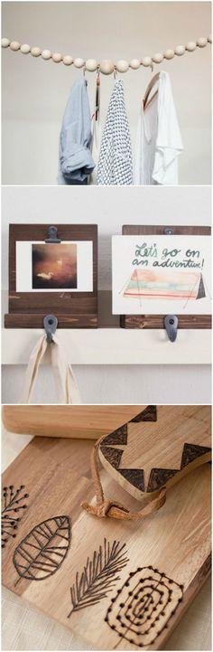 Kostenlose Anleitungen: Wohnaccessoires aus Holz basteln / free diy tutorials: craft your own wooden home decor via DaWanda.com