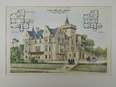 Cargen House, Seat of Patrick Dudgeon, Dumfries, Scotland, UK, 1874, Original Plan. Peddie & Kinnear.