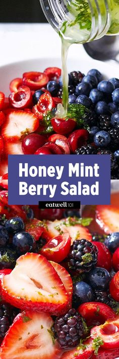 There is nothing quite like a good fruit salad and this one is amazing! Just throw red berries in a large mixing bowl and generously drizzle the honey-lime-mint dressing to bring out the summery fr…