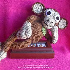 Ravelry: Floppy Monkey Doll pattern by Joanita Theron Half Double Crochet, Double Knitting, Single Crochet, Diy Doll Pattern, Monkey Doll, Yarn Needle, Slip Stitch, Stitch Markers, Crochet Patterns