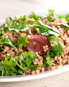 Healthy Farro Salad with Oven-Roasted Grapes and Autumn Greens Recipe | Martha Stewart