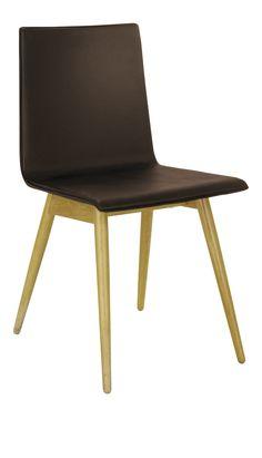 PLY Chaises de salle à manger Brun Cuir Bois Habitat