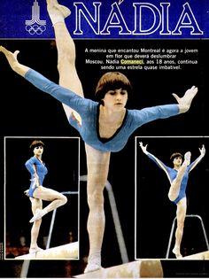 Famous Gymnasts, Nadia Comaneci, Sport Gymnastics, Sports Stars, Female Athletes, Sports Women, Leotards, Vintage Photos, Friends
