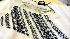 Prima mea ie sau întoarcerea către rădăcini Folk Embroidery, Learn Embroidery, Embroidery For Beginners, Embroidery Techniques, Embroidery Patterns, Cross Stitch Patterns, Decorative Items, Fashion Art, Costume