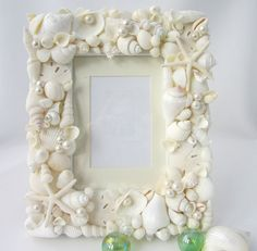 Seashell Frames for Beach Decor    Nautical by beachgrasscottage, $99.00