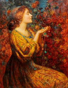Jewels (19th century), Thomas Edwin Mostyn. #art #painting