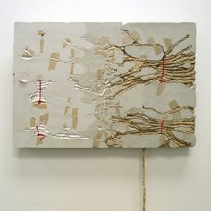 "Marlies Hoever (Santa Cruz CA) - ""Free Your Mind,"" concrete, rope, mixed media"