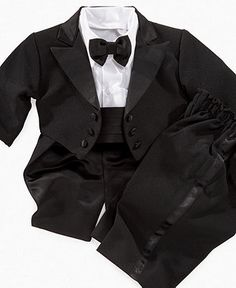 Would this be cute for our little ring bearer? Lauren Madison Baby Set, Baby Boys 4 Piece Tux - Kids Holiday Dressing - Macy's