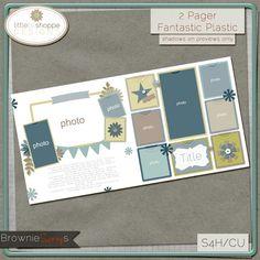 Fantastic Plastic By: Little Bit Shoppe Designs: $1.50 @ www.browniescraps.com