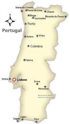 Portugal Tourist Map