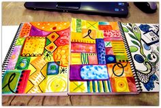 Marcia Beckett: Art Journaling and Mixed Media: Paint Party Friday Art Journal Pages, Art Journals, Doddle Art, Doodle Pages, Watercolor Journal, Art Journal Inspiration, Color Inspiration, Art Journal Techniques, Doodles Zentangles