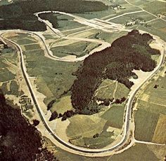Aerial shot of the Osterreichring circuit circa 1970 Race Car Track, Slot Car Racing, Slot Car Tracks, Race Cars, Race Tracks, Slot Cars, Lorenzo Bandini, Austrian Grand Prix, Mario Andretti