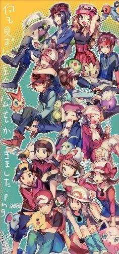 faint memory protags —– Reprint and Use without. Calem Pokemon, Pokemon Manga, Pokemon Comics, Pokemon Funny, Pokemon Fan Art, Pokemon Images, Pokemon Pictures, Pokemon Gym Badges, Pokemon Adventures Manga