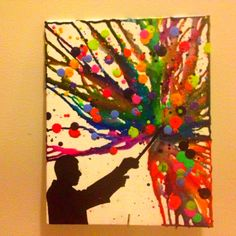 Wizard or maestro melted crayon art