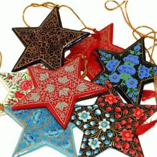 Kashmir Fair to Trade Stars -  a white one chosen for our tree for our daughter